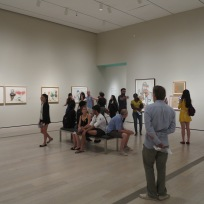 Students in a gallery at LACMA.