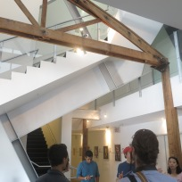Interior of building by Eric Owen Moss in Culver City.