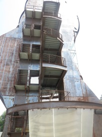 An alternative view of the art films tower.