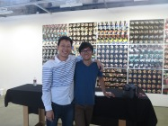 My (left) with my roommate during Making + Meaning, Andrew Li.