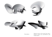 Irregular model for architectural design I created using Rhino after SCI-Arc, in 2014.